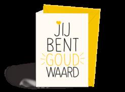 Wenskaart - Bedankt - Goud