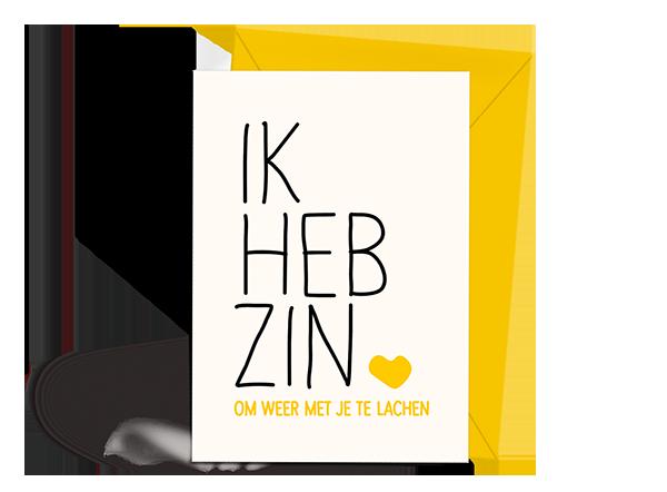 Wenskaart - Uitnodiging - Ik Heb Zin