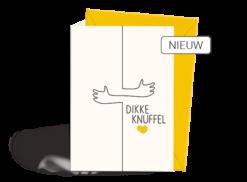 Wenskaart - Liefde - Knuffel - Nieuw