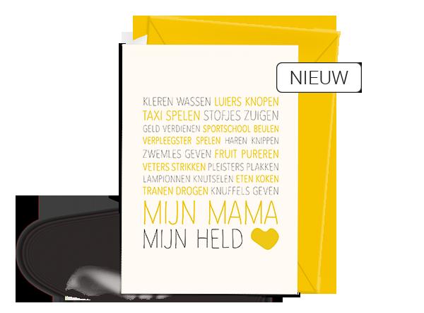 Wenskaart - Verjaardag - Moederdag - Mama - Nieuw
